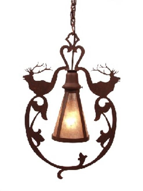 Bavarian Style Pendant with Elk design