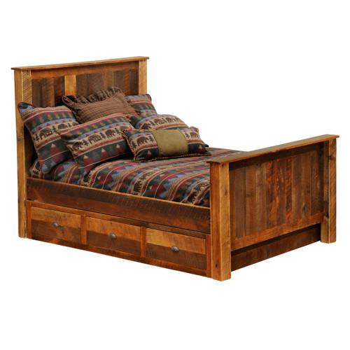 Barnwood Underbed 3 Drawer Dresser - Queen/King