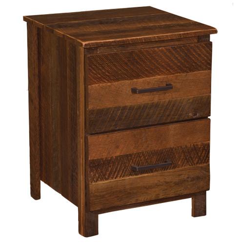 Barnwood Uptown Two Drawer Nightstand