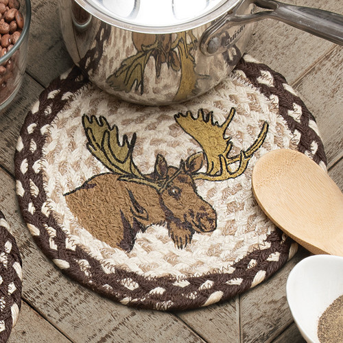 Bashful Moose Jute Trivet