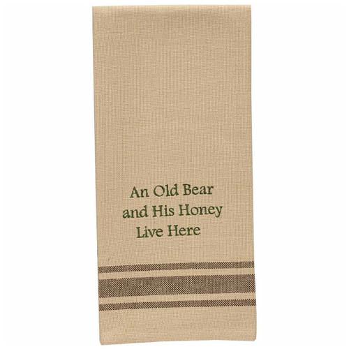 Bear & His Honey Embroidered Dishtowels - Set of 6