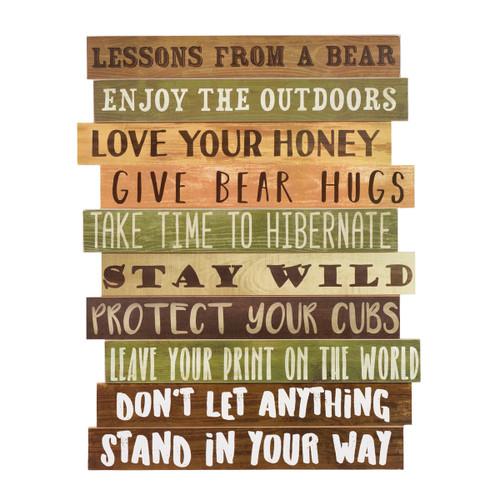 Bear Advice Wood Wall Sign