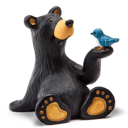 Bear & Bluebird Figurine