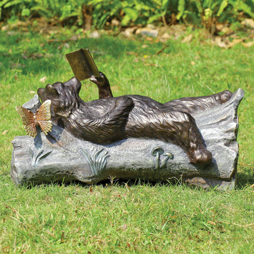Bear and Book Garden Sculpture - OUT OF STOCK UNTIL 11/23/2021