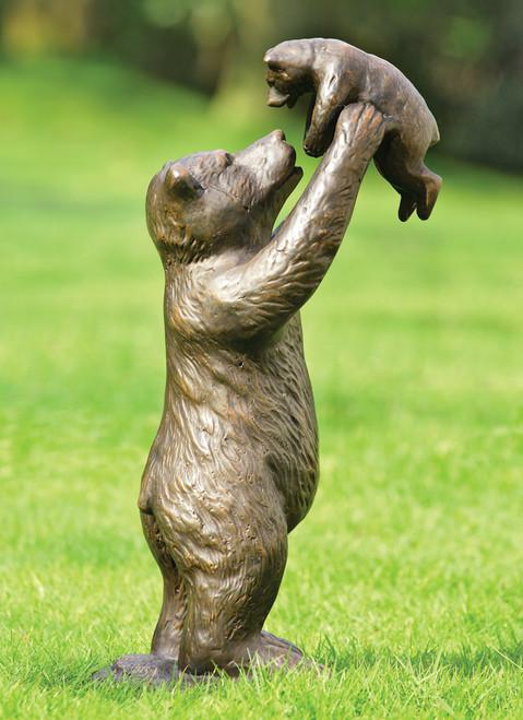 Bear and Cub Garden Sculpture