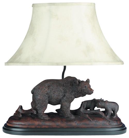 Bear and Cubs Sculpture Lamp