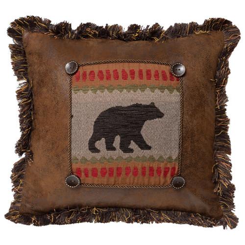Bear & Deer Crossing Pillow