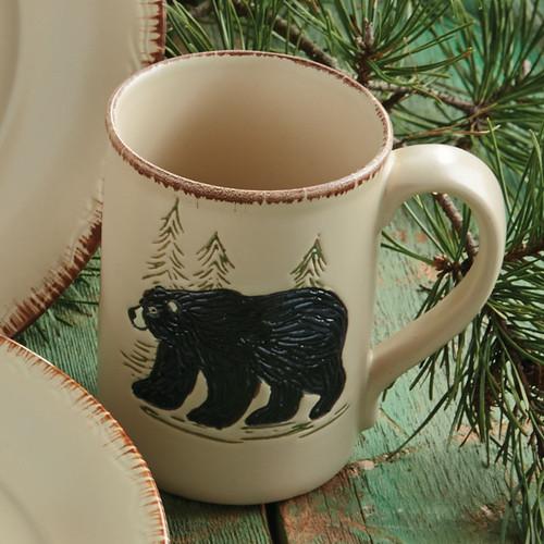 Bear & Moose Stoneware Bear Mug
