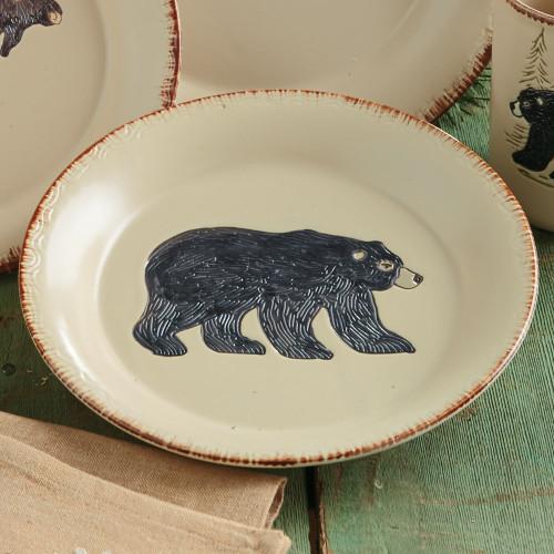 Bear & Moose Stoneware Bear Salad Plate