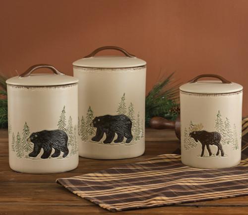 Bear & Moose Stoneware Canister Set (3 pcs)