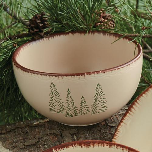 Bear & Moose Stoneware Cereal Bowl