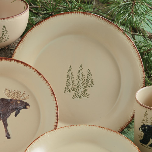 Bear & Moose Stoneware Dinner Plate