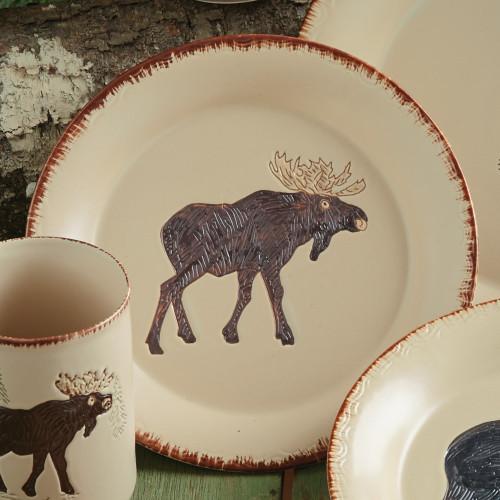 Bear & Moose Stoneware Moose Salad Plate
