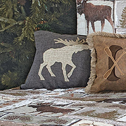 Bear & Moose Wilderness Twin Moose Pillow