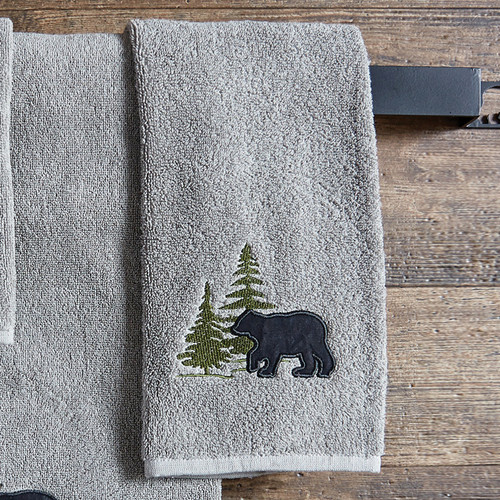 Bear & Pine Tree Hand Towel