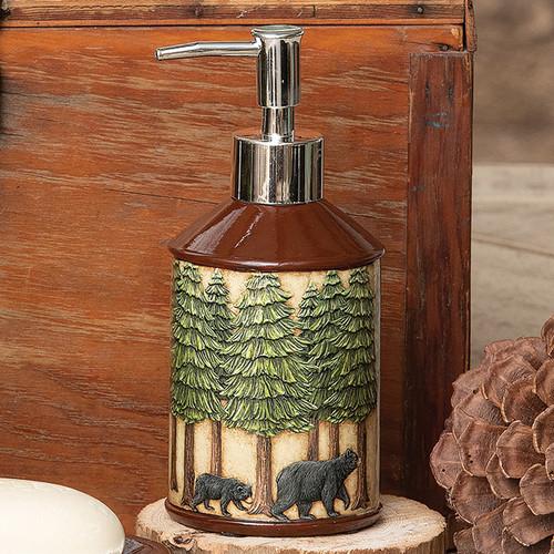 Bear & Pine Trees Lotion Pump