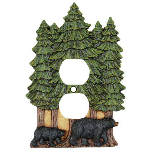 Bear & Pine Trees Outlet Cover