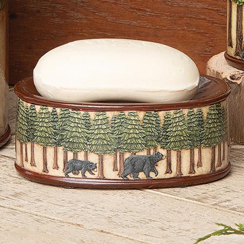Bear & Pine Trees Soap Dish