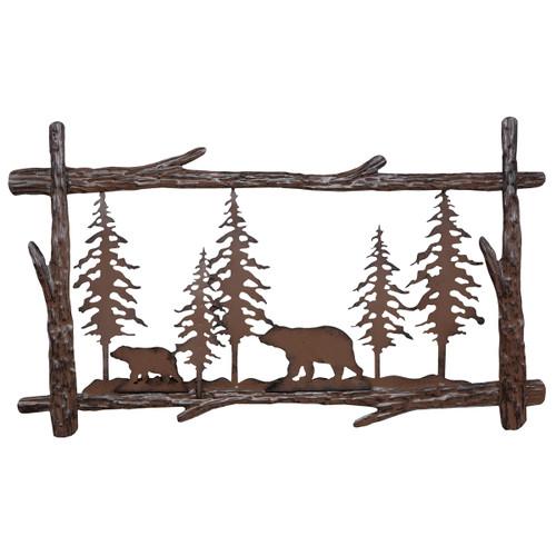 Bear & Tree Metal Wall Art