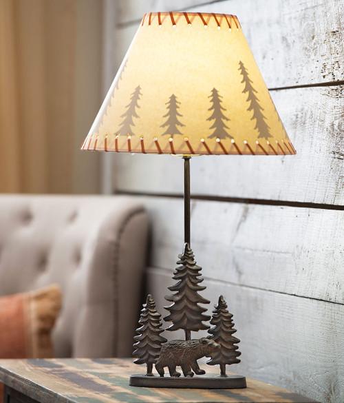 Bear & Trees Metal Table Lamp