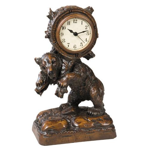 Bear Backpack Clock - Dark English Oak