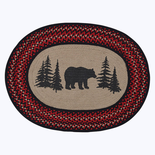 Bear Braided Oval Rug