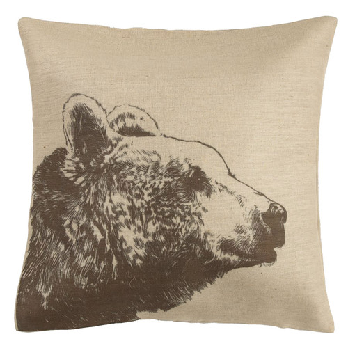 Bear Burlap Pillow