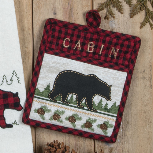 Bear Cabin Buffalo Check Oven Mitt
