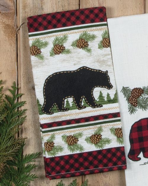 Bear Cabin Buffalo Check Plaid Terry Towel
