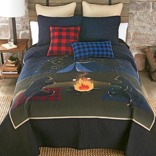 Bear Campout Quilt Set - King