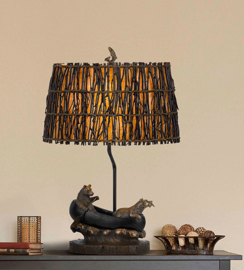 Bear Canoe Table Lamp