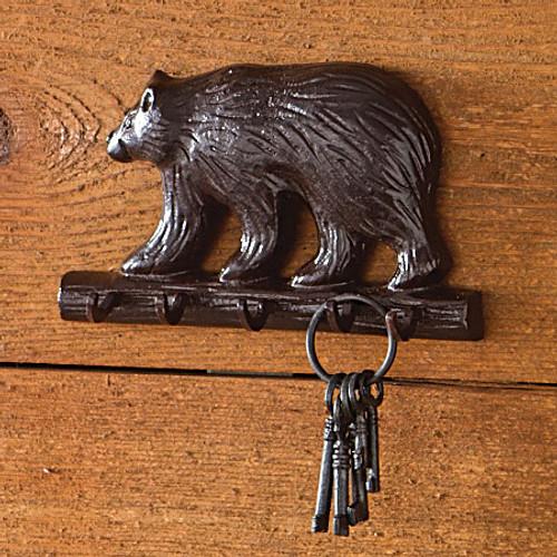 Bear Cast Iron Key Hooks