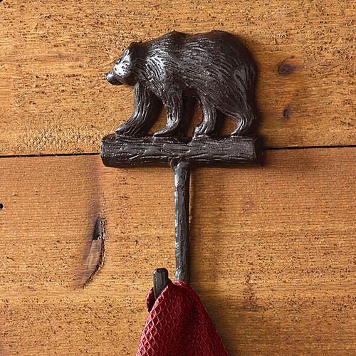 Bear Cast Iron Single Hook