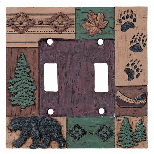 Bear Collage Double Switch Plate