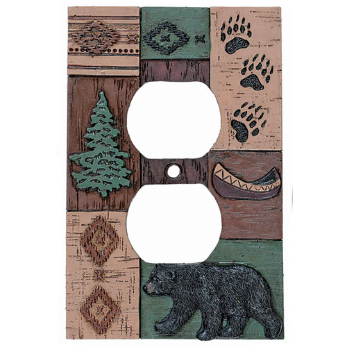 Bear Collage Outlet Cover