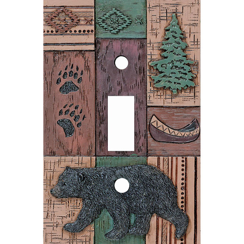 Bear Collage Single Switch Plate