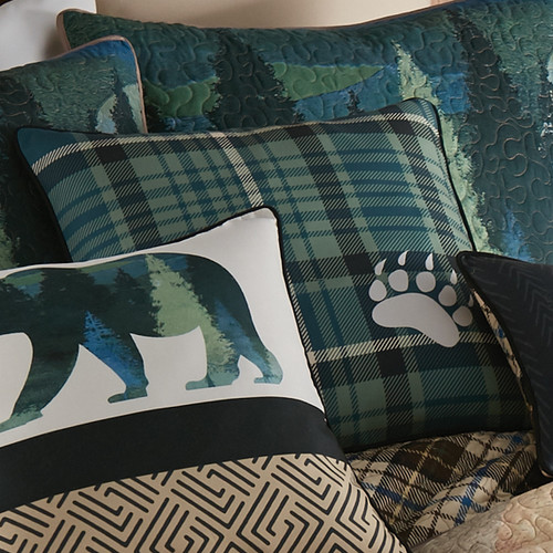 Bear Country Plaid Pillow