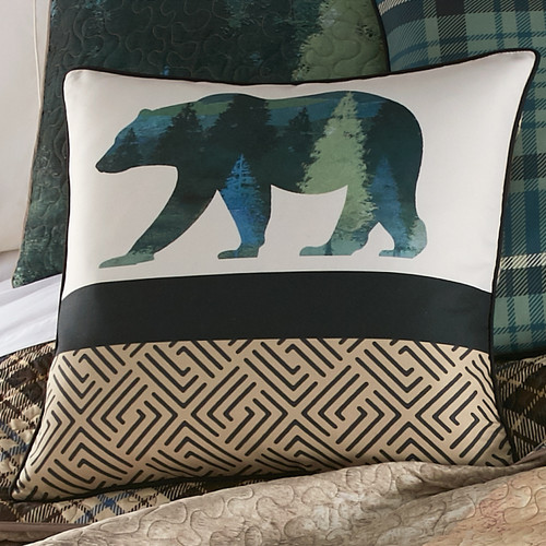 Bear Country Square Pillow
