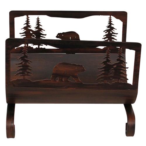 Bear Scene Wood Holder