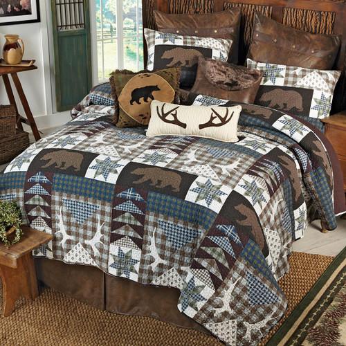 Bear Creek Lodge Quilt Set - Queen