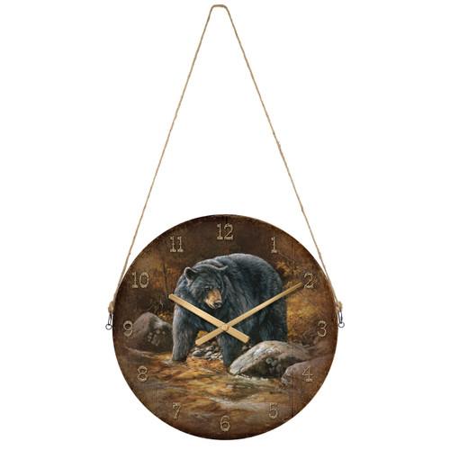 Bear Creek Round Wall Clock