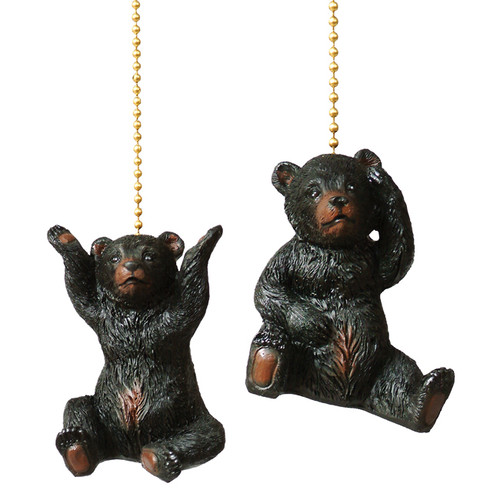 Bear Cub Fan Pulls - Set of 2