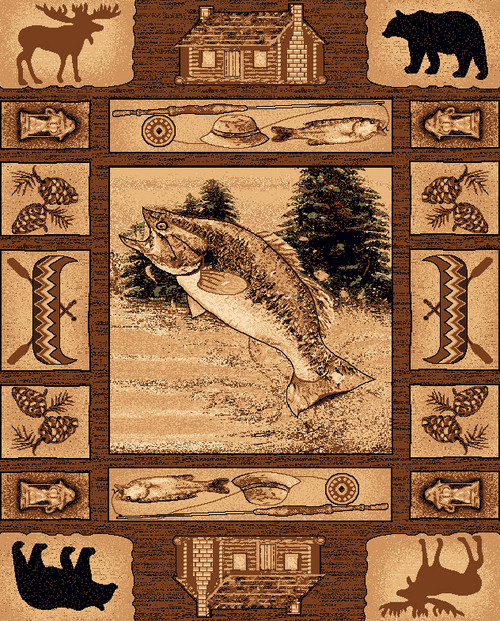 Fishing Scenes Rug Collection