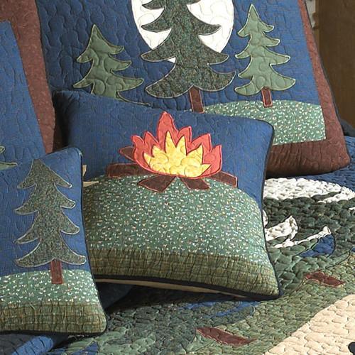 Bear Dance Campfire Pillow
