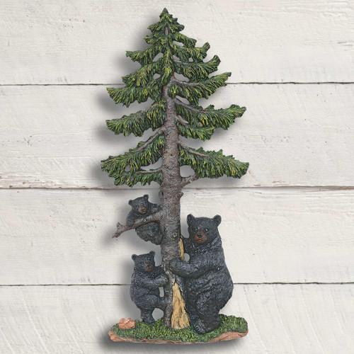 Bear Family Climbing Wall Sculpture