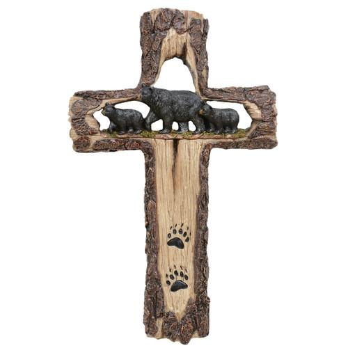 Bear Family Wall Cross