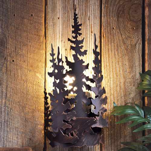 Bear Forest Metal Wall Lamp