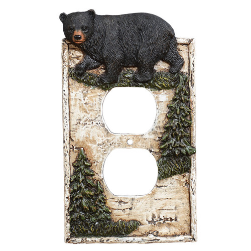 Birch Forest Black Bear Outlet Cover