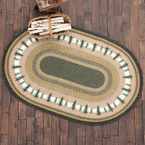 Forest Pines Braided Oval Rug Collection