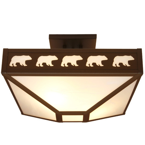 Bear March Drop Ceiling Mount Fixture